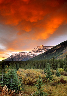 Mt. Amery and Dramatic Clouds, Banff National Park, Alberta, Canada