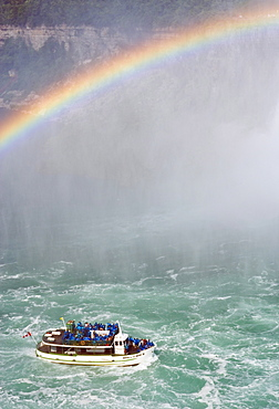 Maid of the Mist at Horseshoe Falls, Niagara Falls, Ontario, Canada