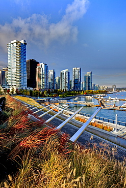 New high rise condominiums on waterfront, Coal Harbour, Vancouver, British Columbia
