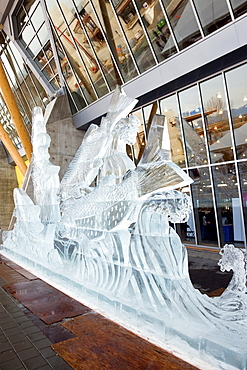 Ice Carving, Richmond Olympic Oval, 2010 Speed Skaing Venue, Richmond, British Columbia