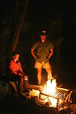 People around a Campfire, Missinaibi Lake, near Chapleau, Ontario