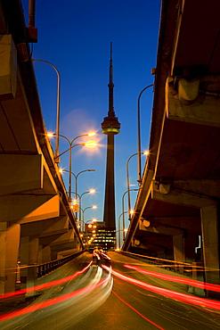 Jarvis entrance on Gardiner Highway, Toronto, Ontario.