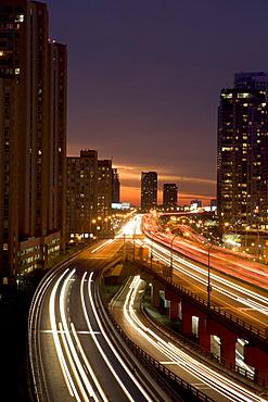 Gardiner Expressway at Night, Toronto, Ontario