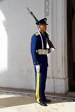 Honour guard by Panteon Nacional de los Huroes (National Pantheon of the Heroes), Asuncion, Paraguay