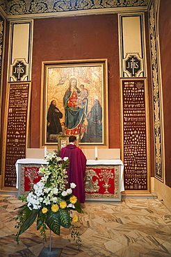 Chapel with Virgin and Child inside of the Cathedral, Vilnius, Lithuania