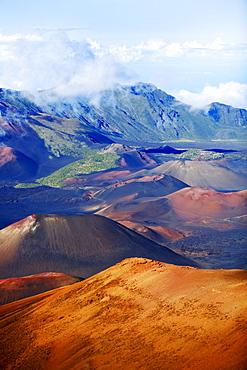 Hawaii, Maui, Haleakala National Park, Haleakala Crater.
