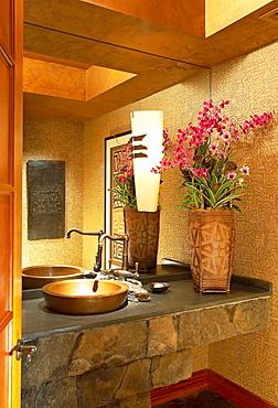 Hawaii, Interior of beautiful modern bathroom.