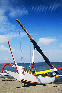 Indonesia, Lombok, fishing boat near Senggigi.
