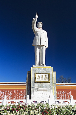 China, Lijang, Statue of Mao Tse Tung.
