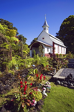 Hawaii, Maui, Wailua, St. Gabriel's Church, also known as the Coral Miracle Church and Our Lady of Fatima Shrine