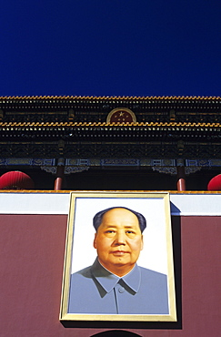 China, Beijing, portrait of Mao Tse Tung on Tiananmen Gate