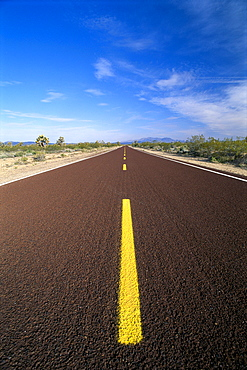 California, Mojave National Preserve and Desert, Cima Road, endless straight road B1618