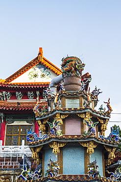 Ornate structure in Baoan Temple park, Taipei, Taiwan