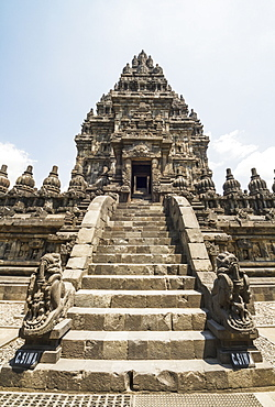 Shiva temple, dating to the 9th century, Prambanan Temple Compounds, Central Java, Indonesia