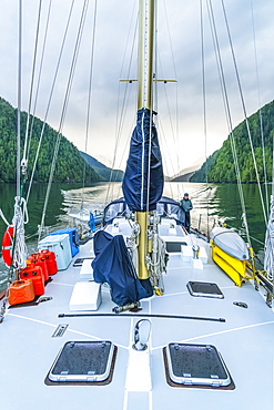 Sailing in the Great Bear Rainforest, Hartley Bay, British Columbia, Canada
