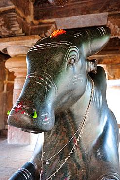 Bull Nandi at Pattadkal, Karnataka, India, Asia