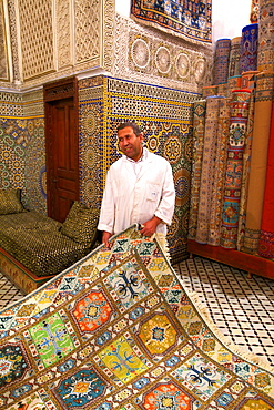 Carpet Shop, Fez, Morocco, North Africa, Africa