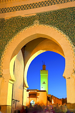 Bab Bou Jeloud, Fez, Morocco, North Africa, Africa