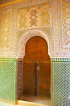 Mosque Entrance, Medina, Meknes, Morocco, North Africa, Africa