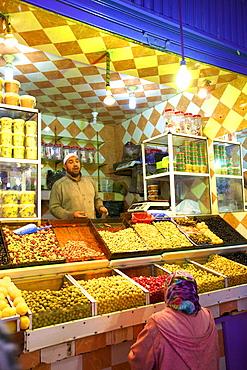 Olive Stall, Medina, Meknes, Morocco, North Africa, Africa