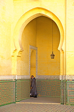 Interior of Mausoleum of Moulay Ismail, Meknes, Morocco, North Africa, Africa