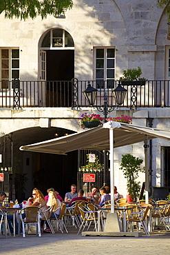Cafe, Grand Casemates Square, Gibraltar, Europe