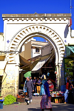 Gate to Medina, Tangier, Morocco, North Africa, Africa