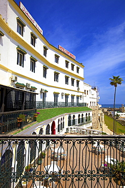 Exterior of Hotel Continental, Tangier, Morocco, North Africa, Africa