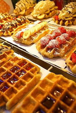 Waffles, Brussels, Belgium, Europe