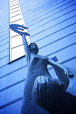 Europe statue, European Parliament Building, Brussels, Belgium, Europe