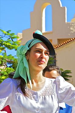 Traditional dancing at Pueblo Canaria, Las Palmas de Gran Canaria, Gran Canaria, Canary Islands, Spain, Atlantic, Europe