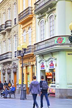 Calle Triana Shopping Street, Triana District, Las Palmas de Gran Canaria, Gran Canaria, Canary Islands, Spain, Atlantic, Europe
