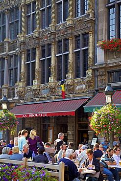 Restaurant, Grand Place, UNESCO World Heritage Site, Brussels, Belgium, Europe