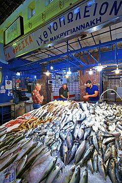Market in Chania, Crete, Greek Islands, Greece, Europe