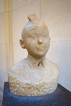 Tin Tin Bust, Museum of Comic Strip Art, Brussels, Belgium, Europe