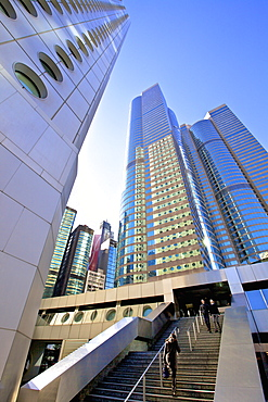 Hong Kong Cityscape with The IFC Building, Exchange Square and Jardine House, Hong Kong, China, Asia