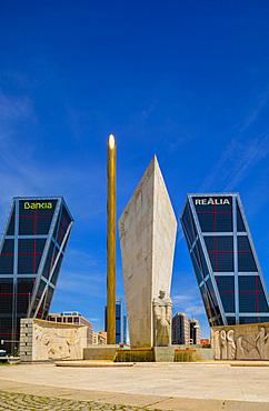 Kio Towers at the Plaza De Castilla, Madrid, Spain, Europe