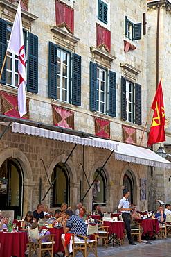 Restaurant, Stradun, Dubrovnik, Croatia, Europe