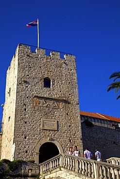 Land Gate, Korcula, Dalmatia, Croatia, Europe