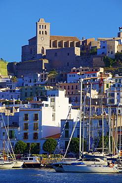 Dalt Vila and Harbour, Ibiza Old Town, UNESCO World Heritage Site, Ibiza, Balearic Islands, Spain, Europe