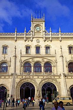 Rossio Railway Station, Lisbon, Portugal, South West Europe