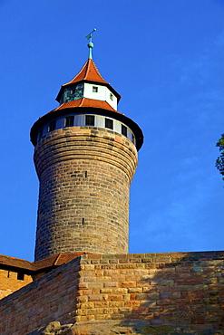 Sinwell Tower, Nuremberg Castle, Nuremberg, Bavaria, Germany, Europe