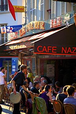 Outdoor Restaurant in Montmartre, Paris, France, Europe