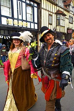 Shakespeare's Annual Birthday Parade, Stratford upon Avon, Warwickshire, England, United Kingdom, Europe