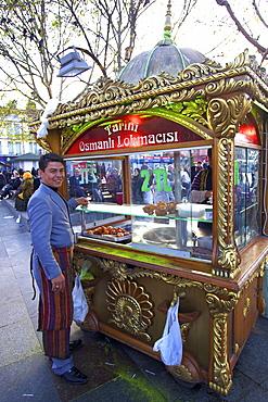 Turkish doughnut vendor, Istanbul, Turkey, Europe