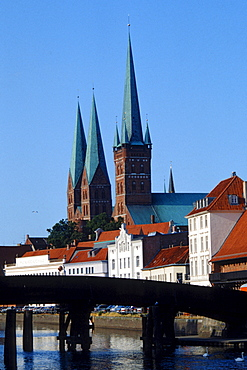 St. Marien church and St. Petri church, Lubeck, Schleswig-Holstein, Germany