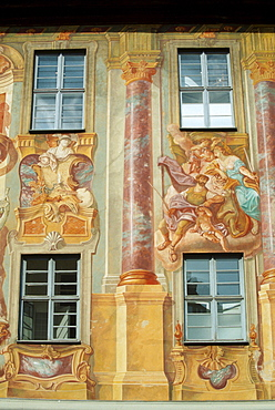 Old cityhall with paintings, Bamberg, Bavaria, Germany