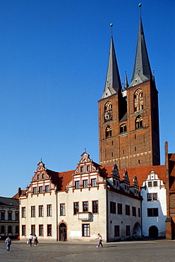Townhall and church of St. Mary, Stendal, Saxony-Anhalt, Germany / Sankt Marien