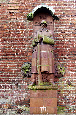 War memorial at the belltower of Ludgeri church, Norden, Lower Saxony, Germany