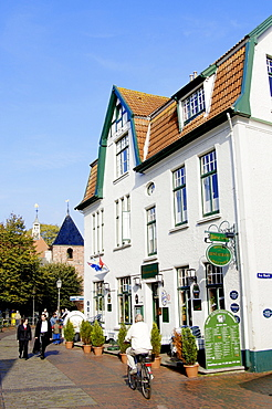 Hotel and restaurant 'Greetsiel', Greetsiel, Lower Saxony, Germany